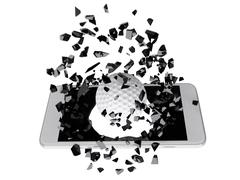 Golf burst out of the smartphone - stock illustration