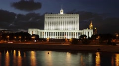 House of government of Russia, Moscow, timelapse Stock Footage