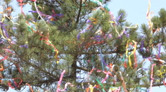 Easter maypole in wind - stock footage