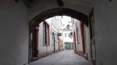 The Jewish Quarter of Treir is accomodated in the centre Stock Footage
