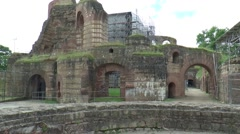 The Kaiserthermen is an ancient bath, that was build by the Romans. - stock footage