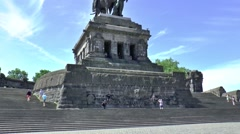 The Deutsches Eck, where the rivers, Moselle and Rhine come together Stock Footage
