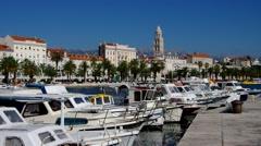 Split in Croatia, the pier Stock Footage