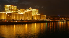 Timelapse of The Ministry of Defence of the Russian Federation in Khamovniki Stock Footage