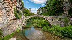 Kokkoros Bridge - Zagori, Greece Stock Footage