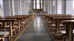 St. Matthias' Abbey is a Benedictine monastery is a place of pilgrimage - stock footage