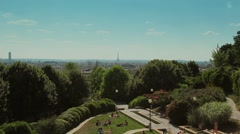 Parc de Belleville Paris City View, France - 1080p Stock Footage