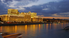 Timelapse of headquarters of the Ministry of Defense of Russia on Frunzenskaya Stock Footage