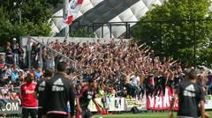 Ajax football fans Stock Footage