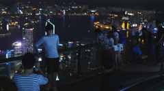 Best view of Hong Kong at the Peak 4K Stock Footage