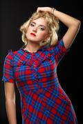 Woman studio portrait - stock photo