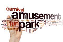 Amusement park word cloud - stock photo