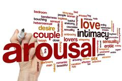 Stock Photo of Arousal word cloud