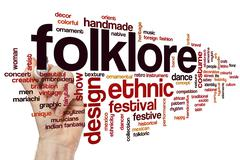 Folklore word cloud - stock photo