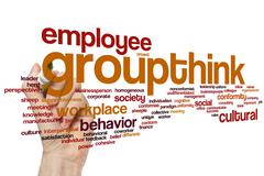 Groupthink word cloud Stock Photos