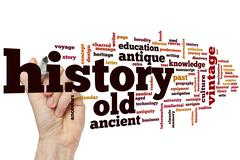 Stock Photo of History word cloud