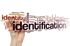 Identification word cloud - stock photo