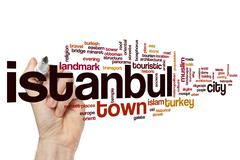 Istanbul word cloud - stock photo