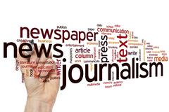 Journalism word cloud - stock photo