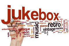 Jukebox word cloud - stock photo