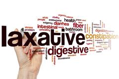Laxative word cloud - stock photo