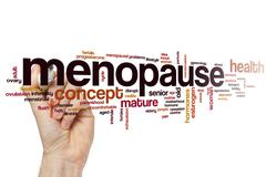 Menopause word cloud - stock photo