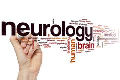 Neurology word cloud Stock Photos