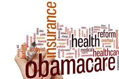 Obamacare word cloud - stock photo