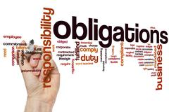 Obligations word cloud Stock Photos