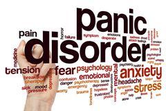 Panic disorder word cloud Stock Photos