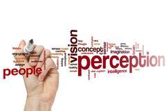 Perception word cloud Stock Photos