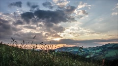 Time lapse of a sunset in the Mountains Stock Footage