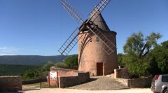 Windmill in Goult, Provence, France - stock footage