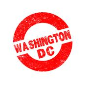 Rubber Ink Stamp Washington DC - stock illustration