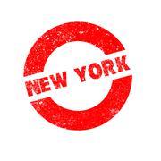 Rubber Ink Stamp New York Stock Illustration