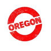 Rubber Ink Stamp Oregon Stock Illustration