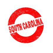 Rubber Ink Stamp South Carolina - stock illustration