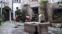 St Paul de Vence, Cote d'Azur, France Stock Footage