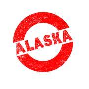 Rubber Ink Stamp Alaska Stock Illustration