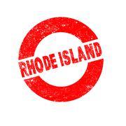 Rubber Ink Stamp Rhode Island Stock Illustration