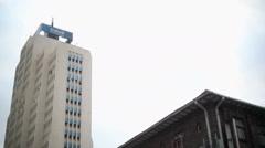 Ecobank building skyscraper in Nairobi city center, Kenya, Africa Stock Footage