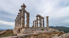 Temple of Poseidon Stock Footage
