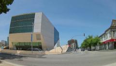 Porto Casa da Musica Concert Music Hall Pan Timelapse Stock Footage
