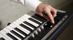 Stock Video Footage of regulation of sound on the piano