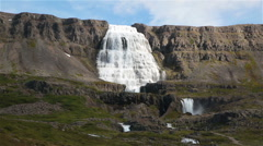 Dynjandi waterfall, Iceland in summer Stock Footage