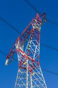 High-voltage power trasmission pylon Stock Photos