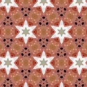 art vintage ethnic blurred watercolor floral pattern - stock illustration