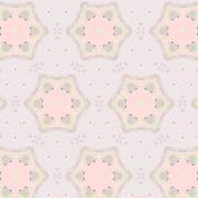 Stock Illustration of Cute abstract pink feminine pattern textiles