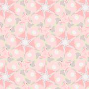 Cute abstract pink feminine pattern textiles - stock illustration