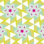 Cute abstract neon feminine pattern for textiles - stock illustration